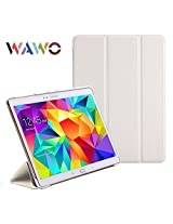 WAWO Creative Smart Tri-fold Cover Case for Samsung Galaxy Tab S 10.5-inch Tablet - White