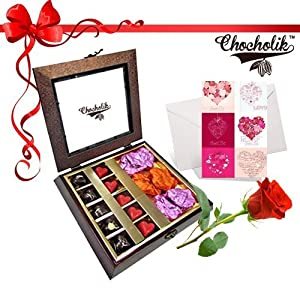 20pc Assorted Love Chunk with Lovely Card and Rose