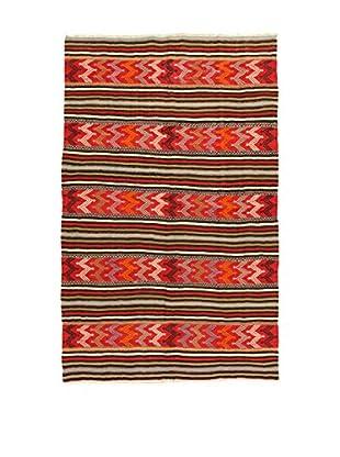 Design Community By Loomier Teppich Kilim Caucasico rot/mehrfarbig 160 x 257 cm