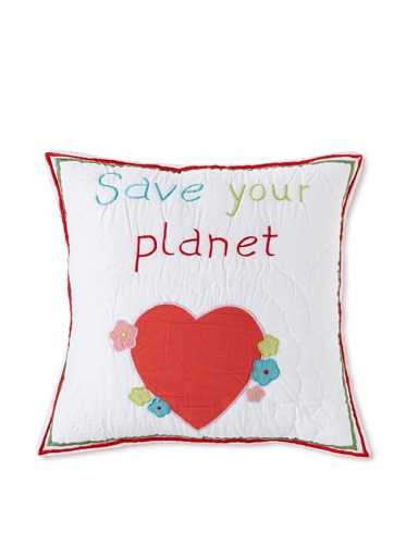 Amity Home Save Your Planet Pillow (Multi)