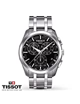 Tissot Couturier Black Dial Mens Chronograph Watch