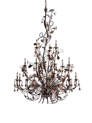 Artistic Lighting 18-Light Hand Blown Florets Chandelier, Deep Rust