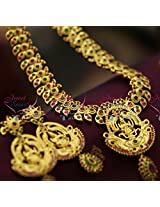 South Indian Traditional Temple Jewellery Collections Gold Plated Laxmi Necklace