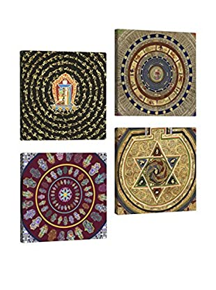 Dekorjinal Set, 4-teilig dekoratives Bild Tul058 (mehrfarbig)