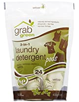 Grab Green 3-in-1 Laundry Detergent, Vetiver, 24 Loads