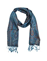 Ganesh Handicrafts Women's Silk Shawl (GH030, Blue)