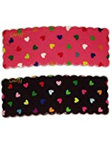 iOna Beauty Essentials Woman Tic Tic Hearts Type A Beauty Hair Pins Black n Pink 2