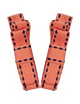 NeedyBee double deck stitched design Orange Hair Clip - pack of two