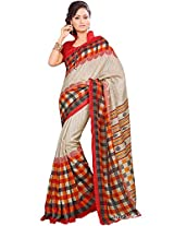 Shri Vaishnavi Women Silk Self Print Saree (12032.101 _Multi-Coloured _Free Size)