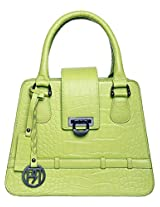 Women's Leather Handbag Lime Green