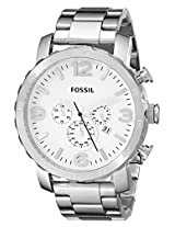 Fossil Nate Chronograph White Dial Men's Watch - JR1444