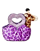 Aurora World Fancy Pals Plush Toy Pet Carrier, Giraffe Jungle Love