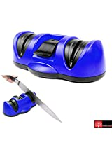 Red Forest Kitchen Suction Cup Knife Sharpener Blue