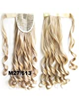 "A.H Fashion Ponytail Hair Extension High Quality Wrap Around Clip In Wavy Hair Pieces 22"" #M27/613"