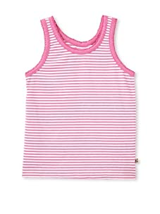 Pink Chicken Girl's Joy Stripe Tank (Pink/White)