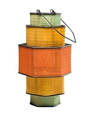Kare Design Porta Velas Bamboo Step Hexa 58 Cm