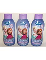 Disney Frozen 3 Pack Bubble Bath Cherry Chill 20 Fluid Ounces Each