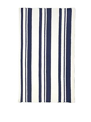 InterDesign Ellis Hand Knit Rug, Navy/Ivory