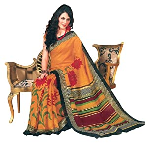 Bhavi Embellished Printed Mysore Silk Saree