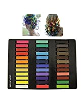 Non - Toxic Hair Chalk Temporary Hair Dye Color's Soft Pastels Salon Set Kit (36 PCS)