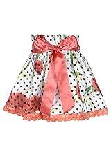 Cutecumber Girls Polyester Floral Orange Knee Length Skirt