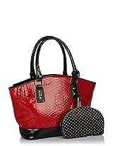 Maroon Croco Handbag