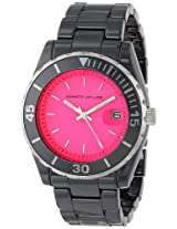 Kenneth Jay Lane Watches, Women's 3000 Series Pink Dial Black Ceramics, Model 3010