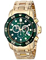 Invicta Men's 80072 Pro Diver Analog Display Swiss Quartz Gold Watch