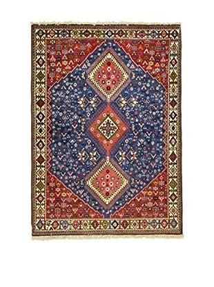 L'Eden del Tappeto Teppich Yalameh rot/blau 146t x t107 cm