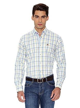 La Española Camisa Fitted Check (Amarillo / Azul)