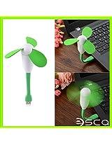 ESCA USB Fan For LAptop/ Desktop/ Powerbank Multiple Colors. Black/ Orange/ Green/ Blue/ White/ Pink. (3 Fan Wings Blades) Colors may vary