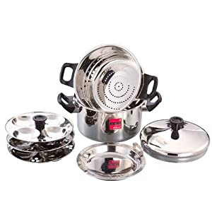 12 Idly - American Steamer cum Idly Cooker - Induction Compatible + Flame (Dual)