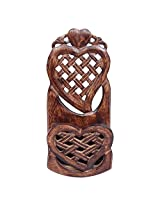 Onlineshoppee Wooden Home Decor Wall Hanging Rack Beautiful Design.