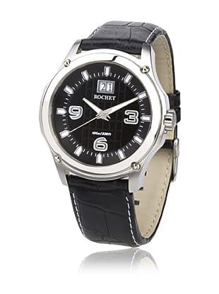 Rochet W403015 Reloj De Caballero Movimiento De Cuarzo Con Correa De Piel Negro