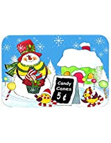 Caroline's Treasures PJC1076JCMT Candy Canes for Sale Snowman Kitchen or Bath Mat, 24 by 36 , Multicolor
