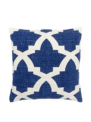 Mela Artisans Ava Silk Pillow, Indigo