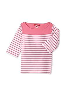 One Kid Girl's 2-6x Sailor Top (Rose Stripe)