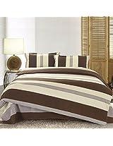3 Or 4pcs Stripe Cotton Blend Paint Printing Bedding Set Full Size