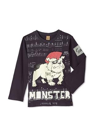 Monster Republic Boy's Bulldog London Punk Tee (Black)