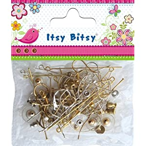 Itsy Bitsy Earing Making Findings Pack 100pcs 1pk IB