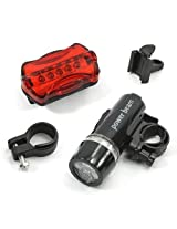 Sun Bike Bicycle Safety Warning Light Set, Head And Tail Led Lights