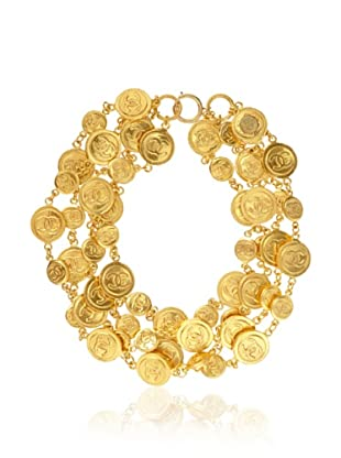 CHANEL Iconic 4 Strand Coin Necklace
