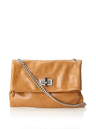 Pietro Alessandro Women's The Marluy Shoulder with Chain Strap (Tan)