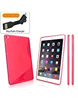 iPad Air 2 Case, BoxWave® [DuoSuit with BONUS Keychain Charger] Ultra Durable TPU Case w/ Shock Absorbing Corners for Apple iPad Air 2 - Cosmo Pink