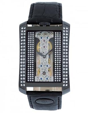 Hugo von Eyck Uhr mit Handaufzug Libra schwarz/strass