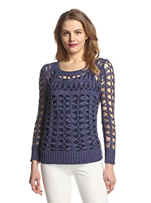 Zero Degrees Celsius Women's Crochet Sweater (Navy)