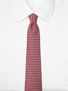 Hermès Men's Loops Tie, Red/Grey, One Size