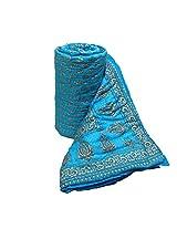 Mharo Rajasthan Traditional Jaipuri single side printed Razai - Single Bed