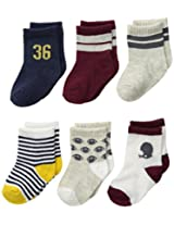 Carter's Baby-Boys Newborn 6 Pack Sport Computer Socks