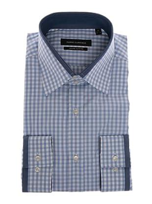 Pierre Clarence Camisa de manga larga (Blanco/Azul)